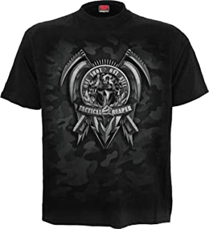 Gothic,Goth Spiral Tactical Reaper Men/'s Black Skull Hoodie