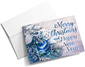 The Christmas Sapphire - Christmas Cards | 25 Standard Greeting Cards with Your Custom Message and Envelopes | Printed in the USA