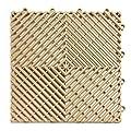 RaceDeck Free-Flow Open Rib Design, Durable Interlocking Modular Garage Flooring Tile (Single Tile), Black