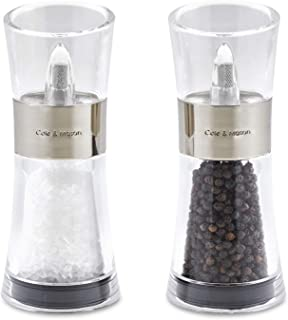 Cole & Mason Flip 180 Inverta Salt and Pepper Mill Gift Set, Chrome, 15 cm