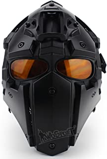 LEJUNJIE Tactical Airsoft Helmet Full Face Protection Mask Goggles Hunting Paintball Shooting Military Motorcycle Cosplay Movie Prop