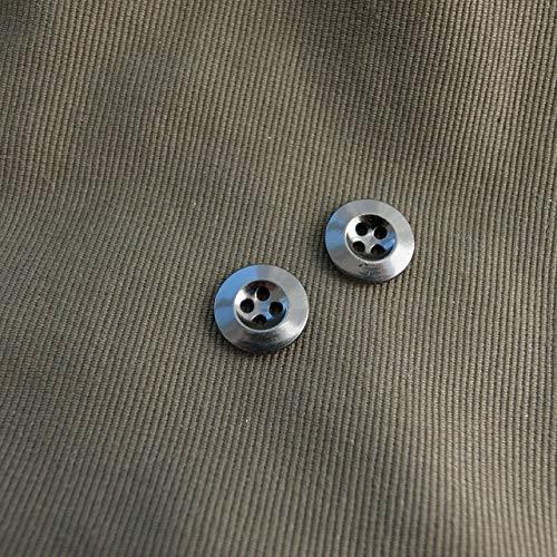 【シンプルデザイン】メタルミリタリーボタン #D411 4穴 13mm C/#BN ブラックニッケル 10個セット