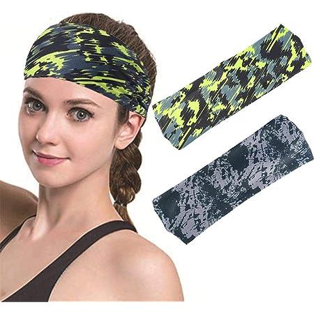 Emily Sports Yoga Hairband Antiperspirant Turban Sweatband Hairband Fitness Headband Dark green
