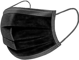 100 Masques Barrières de Protection Jetables fabriqués en France Coloris Noir - Validés DGA UNS1 (100)