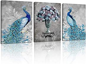 wall pictures animals b3d115 Canvas PICTURES Portrait of Beautiful Peacock