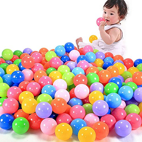 Techinal 200pcs Swim Fun Colorful Soft Plastic Ocean Ball Secure Baby Kid Pit Toy