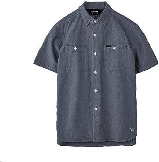 BLUCO 半袖シャツ ワークシャツ シャンブレーシャツ ブラック 黒 ネイビー 紺 ブルー 青 ブルコ CHAMBRAY WORK SHIRTS S/S ストリート シンプル OL-121-021
