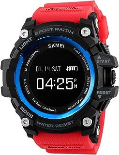 Tonnier Watch Men Sports Smart Watch Calorie Heart Rate Pedometer Remote Camera Bluetooth Digital SmartWatch with PU Band