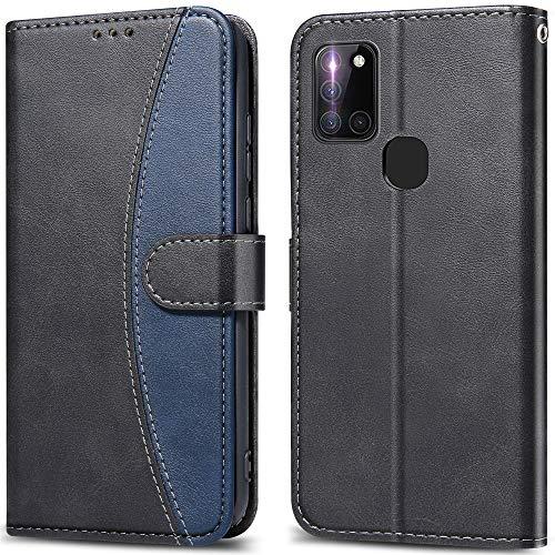 LEBE Coque pour Samsung Galaxy A21s,Housse en Cuir Samsung Galaxy A21s, Étui Téléphone [Porte-Cartes de Crédit] [Fermeture Magnétique] pour Samsung Galaxy A21s -Noir