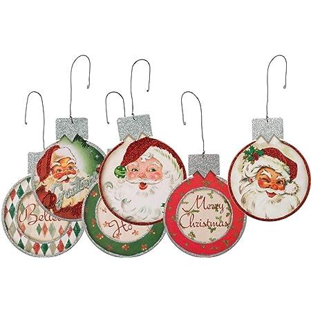 Set of 2 Retro Pixie Elves Christmas Tree Ornaments-Bendy and Flexible