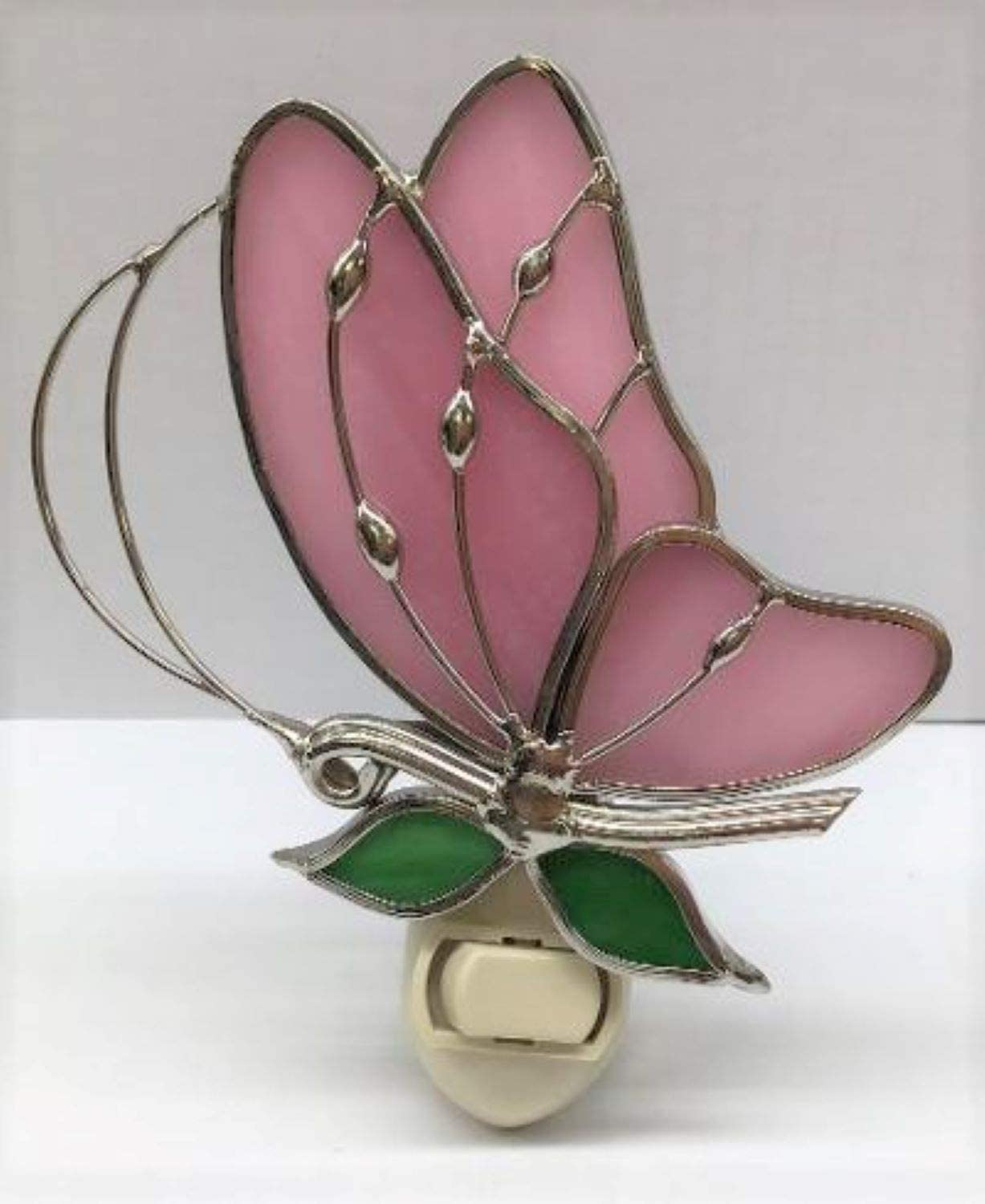 Stain Glass Baby Pink Butterfly Night Light Colorado Springs Mall Ranking TOP5