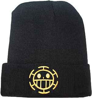 JRICK Anime One Piece Trafalgar Law Logo Beanie Fashion Unisex Embroidery Beanies Skullies Knitted Hats Skull Caps