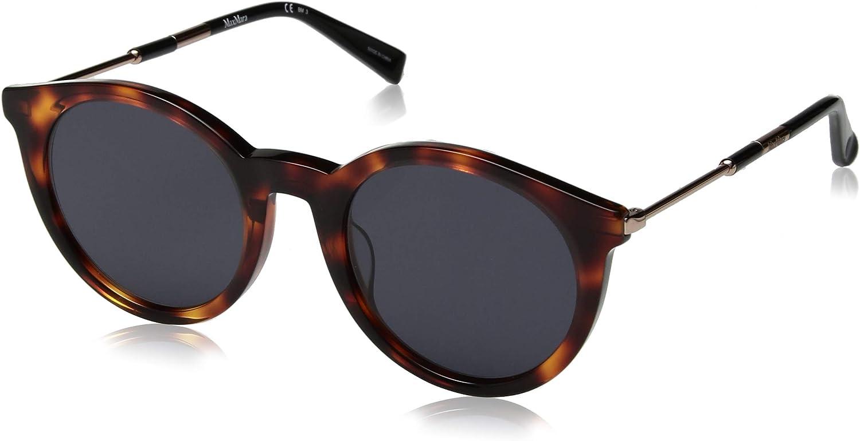 Max Mara Women's Mm Wand I Round Sunglasses Red Havana 50 mm