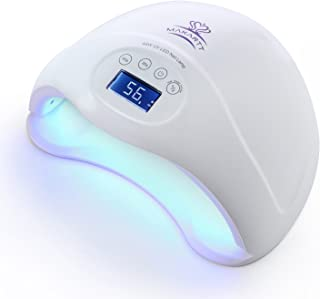 Makartt 48W Fast Dry UV LED Nail Lamp with 3 Timer Setting Gel Nail Polish Dryer for Both Hands and Feet Nail Art UV Light Professional for Salon or Nail Lovers C-07