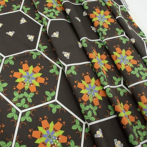 Birch Organic Fabrics Charley Harper Hexi Bears Fabric by The Yard