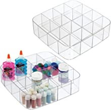 mDesign Stackable Plastic Drawer Organizer Storage Bin Tray - Holder for Craft, Sewing, Hobby, Art Supplies in Home, Class...