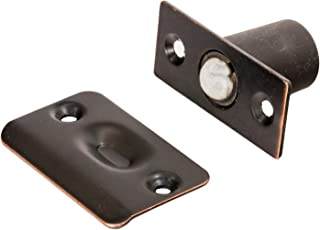 2 Pack Rok Hardware Oil Rubbed Bronze Adjustable Large Closet Cabinet Ball Catch Latch with Radius Corners and Strike