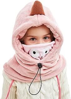 Lazzon Enfants Cagoule Chapeau Hiver /Épais Thermique Ski Cyclisme Visage Masque Capuchon Coupe-Vent Polaire Caps