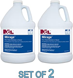 NCL MIRAGE Neutral Floor Finish Maintainer & Cleaner 1 GAL [SET OF 2]