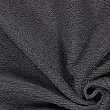 Fabulous Fabrics Frottee – dunkelgrau — Meterware ab