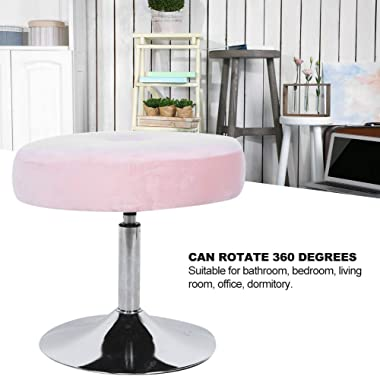 Ejoyous Velvet Vanity Stool, Modern 360 Degree Rotating Adjustable Round Comfortable Makeup Dressing Chair Cushioned Piano Se