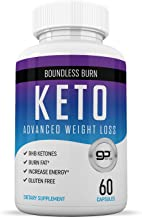 Best Keto Pills - Advance Weight Loss Formula with BHB - Energy Booster and Fat Burner Supplement - 60 Capsules