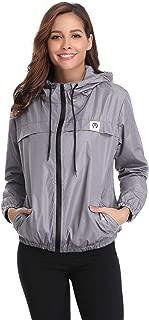Aibrou Women's Lightweight Raincoats Waterproof Active Outdoor Packable Hooded Trench Coats