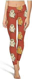 Bule Big Owl with Hat Girl Yoga Pants High Waist Yoga Leggings with Pockets