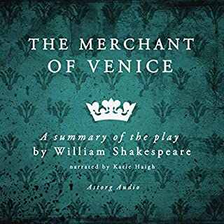 The Merchant of Venice     A Summary of the Play by William Shakespeare              Written by:                                                                                                                                 James Gardner,                                                                                        William Shakespeare                               Narrated by:                                                                                                                                 Katie Haigh                      Length: 29 mins     Not rated yet     Overall 0.0