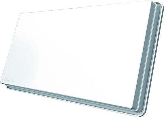 STRONG SlimSat SA 62 Antena Plana satelital Gemela [LNB Integrado, Sat, para 2 participantes, Incluyendo Soporte, Antena, Antena parabólica] Blanco