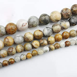 95PCS 4mm Crystal Natural Gemstone Loose Beads Round Crystal Energy Stone for Jewelry Making 1 Strand 15