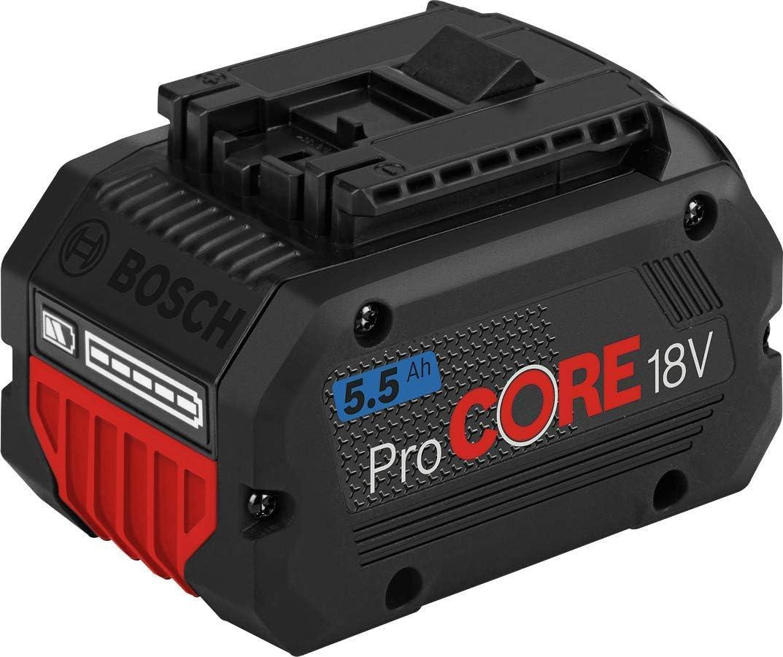 Bosch Professional 18V System ProCORE18V 5.5Ah - Batería de litio (1 batería x 5.5Ah, tecnología Coolpack)