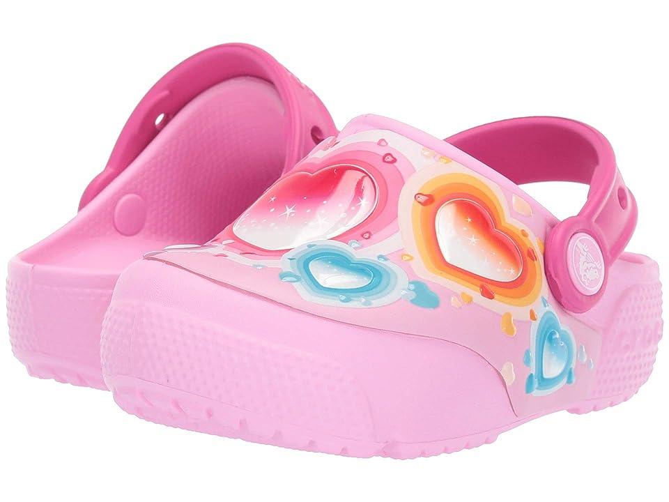 Crocs Kids CrocsFunLab Heart Lights Clog (Toddler/Little Kid) (Carnation) Kids Shoes