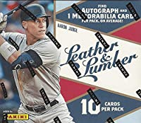 1 MINI BOX: 2019 Panini Leather & Lumber Baseball (10 cards incl. ONE Memorabilia and ONE Autograph card)