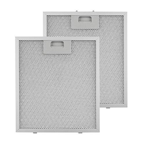 Klarstein Aluminium-Fettfilter - Austauschfilter, Ersatzfilter, 2 x Filter, Klickverschluss, 25,8 x 29,8 x 0,9 cm, ca. 160 g, Aluminium, für Klarstein Kronleuchter Dunstabzugshauben, silber