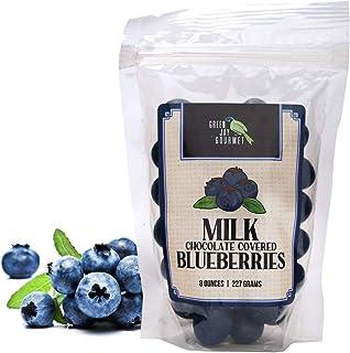 Sponsored Ad - Green Jay Gourmet Milk Chocolate Blueberries - Handmade & Fresh Milk Chocolate Covered Blueberries from Mic...