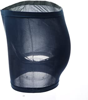 Prettyia 100% Silk Knitted Mens Underwear Boxers Navy-XL