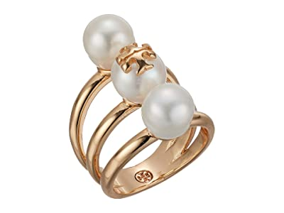Tory Burch Kira Pearl Stackable Ring (Tory Gold/Pearl) Ring