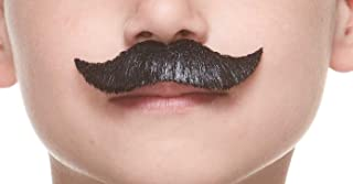 Mustaches Fake Mustache, Self Adhesive, Novelty, Small Trim Salesman False Facial Hair, Costume Accessory for Kids