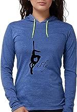 CafePress - Ifly Silk Silohouette Long Sleeve T-Shirt - Womens Hooded Shirt
