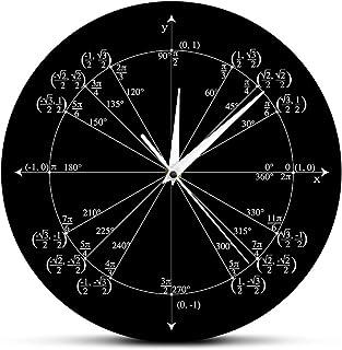 ساعة حائط دائرية وحساب المثلثات قبل حساب التفاضل والتكامل وقيم وقيم وقيم وساعة الحائط