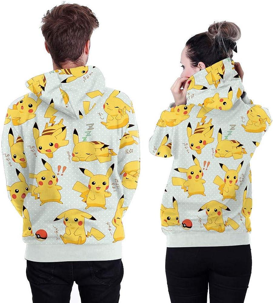 SQDWYA Sweat À Capuche 3D, Sweat À Capuche Imprimé Numérique Pikachu 6xl