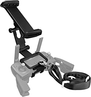 Powerextra 4-12 Inch Adjustable Extender Tablet Holder Mount with Neck Lanyard Strap Compatible with DJI Mavic Mini, Mavic...