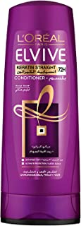L'Oreal Paris Elvive Keratin Straight Conditioner, 400 ml