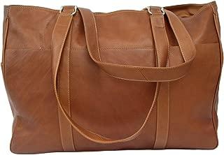 Piel Leather Large Shopping Bag, Saddle, One Size