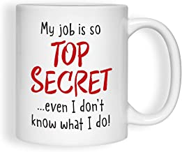 product image for Imagine Design Relatively Funny My Job is So Top Secret, Mug, Red/Black/White
