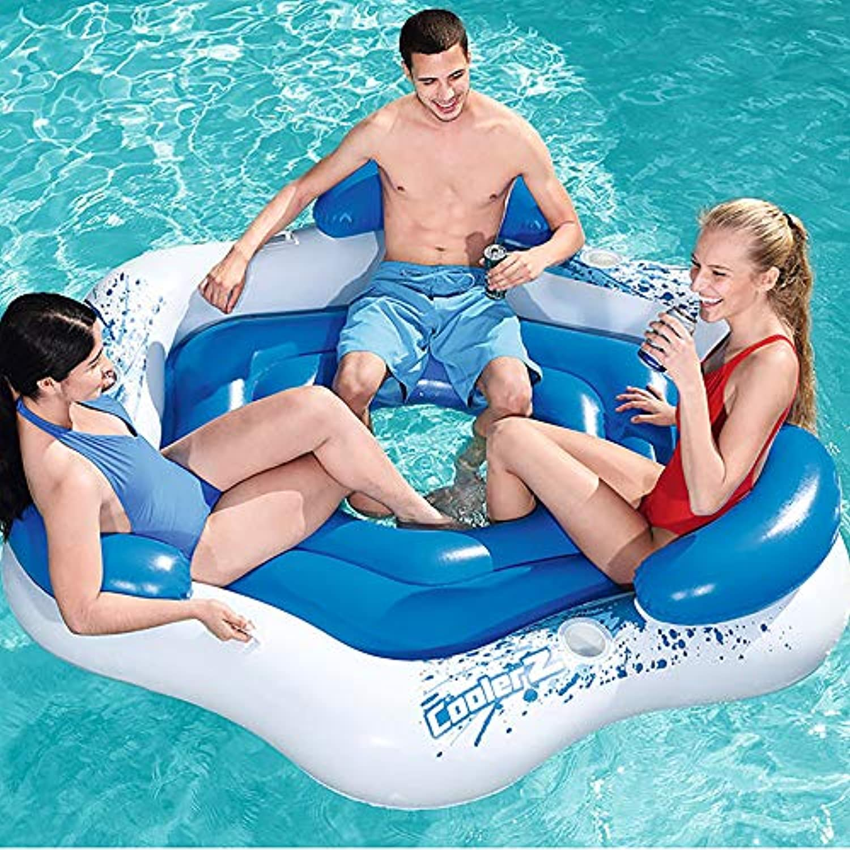 Aufblasbare Schwimmende Reihe Schwimmenden Stuhl Wasser Aufblasbarer Stuhl Schwimmbett Schwimmbad Aufblasbares Kissen Erwachsene Kinder Schwimmbad Schwimmende Beach Party Pool Lounge Stuhl,C