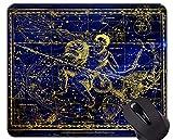 Yanteng Alfombrilla de ratón con Borde de Bloqueo, Constelación Capricornio Acuario 12 Temas del...