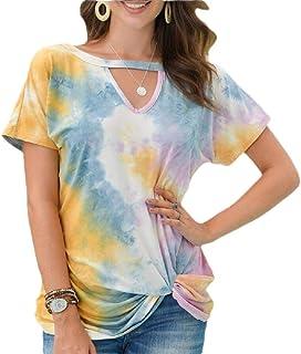 heymoney Men Fashion V Neck Slim Short Sleeve Solid Colored T Shirts