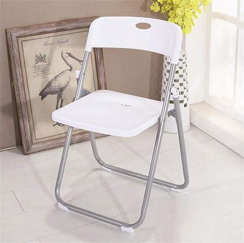 He-shop Chaise Pliante, Chaise de Poids léger Pliable de Voyage intérieur en Plastique de Camping d'intérieur portatif en Plastique de Jardin de Camping, en Option 77 × 44 × 45 cm